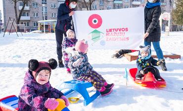 Žiemos sporto šventė Šiaulių lopšelyje - darželyje