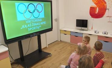 """Sportinė olimpinė viktorina """"Ką aš žinau apie sportą"""""""