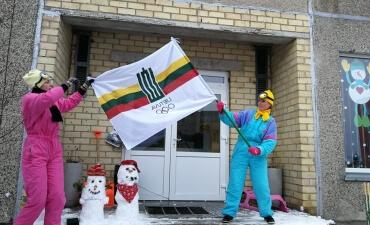 Žiemos sporto šventė sukvietė pasidžiaugti žiemos malonumais