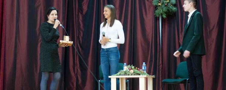 Susitikimas su olimpiete Egle Balčiūnaitė